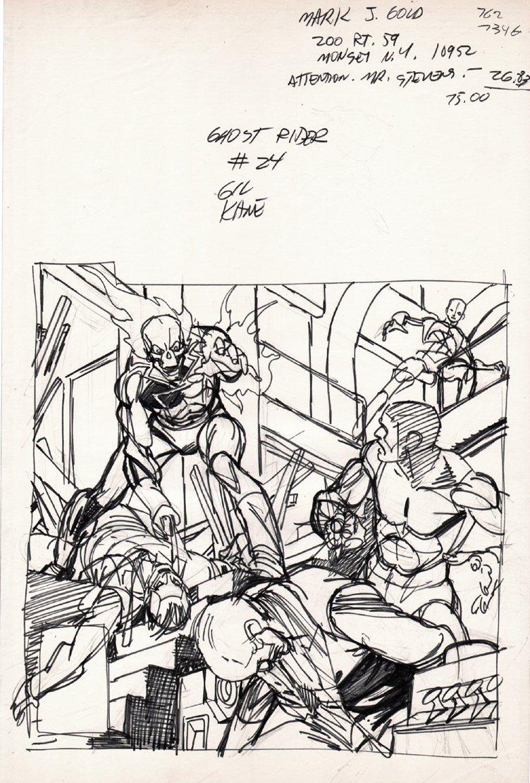 Ghost Rider #24 Cover Prelim (1977)