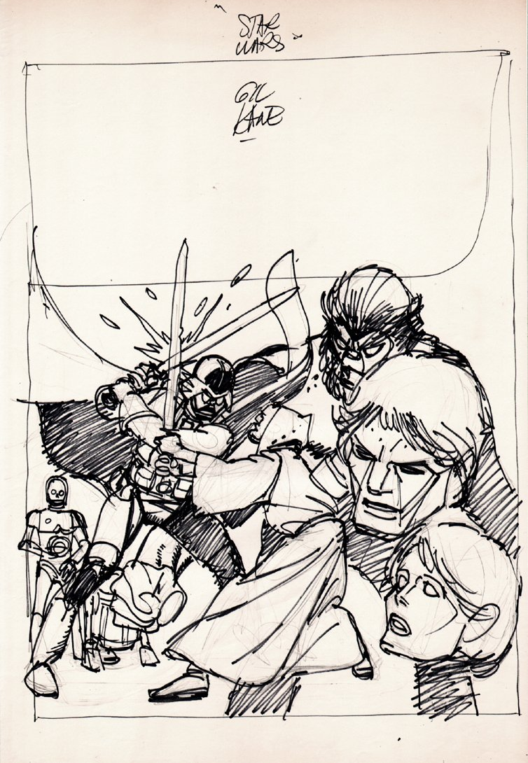 Star Wars Weekly #8 Full Size Cover Prelim (1978)