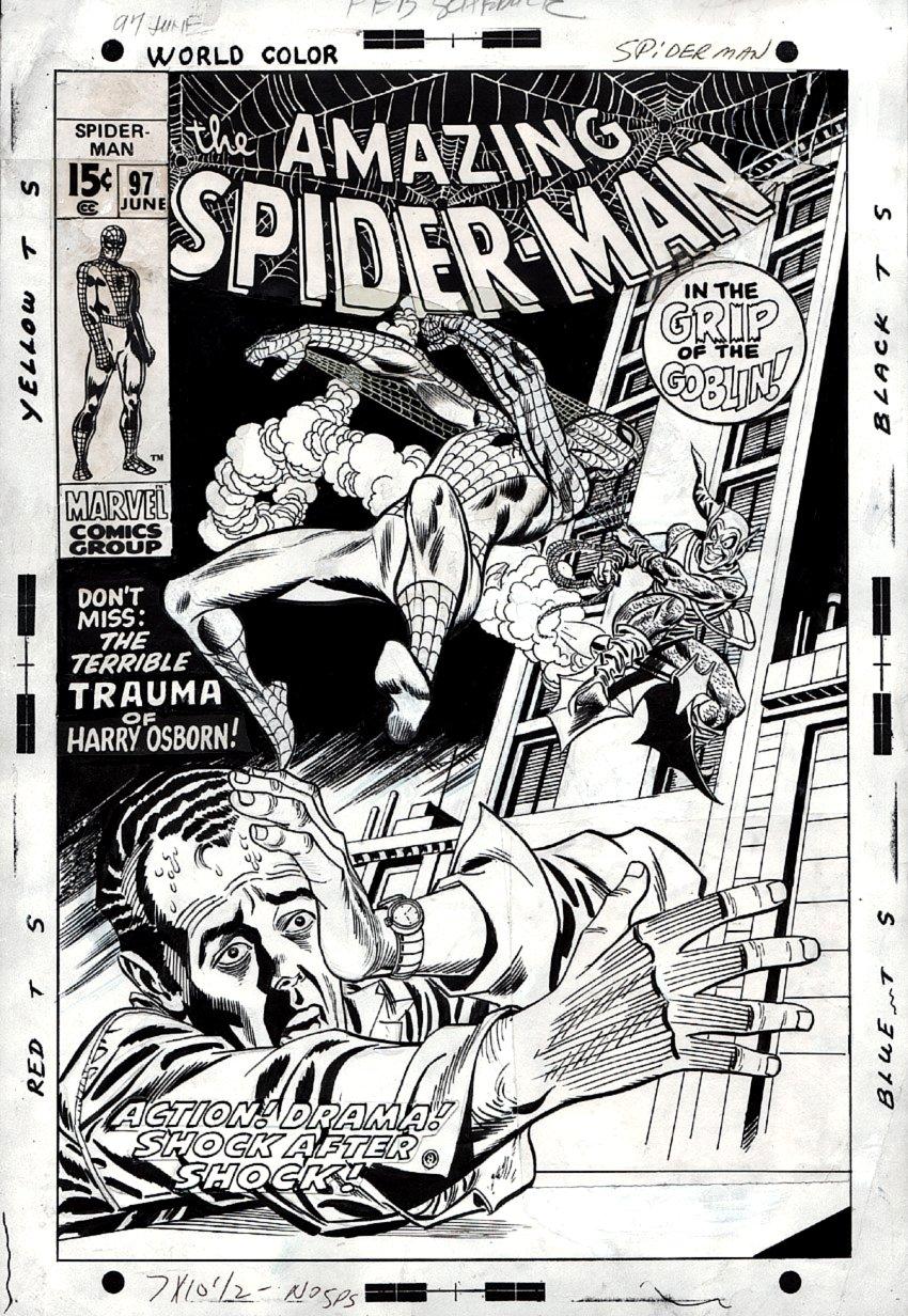 Amazing Spider-Man #97 Unused Cover (1971).