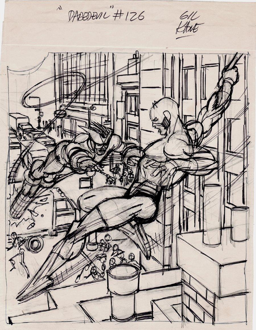 Daredevil #126 Cover Prelim Full sized Art (1975)