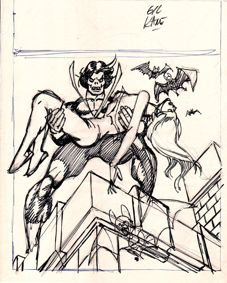 Fear #31 Full Size Cover Prelim (1975)