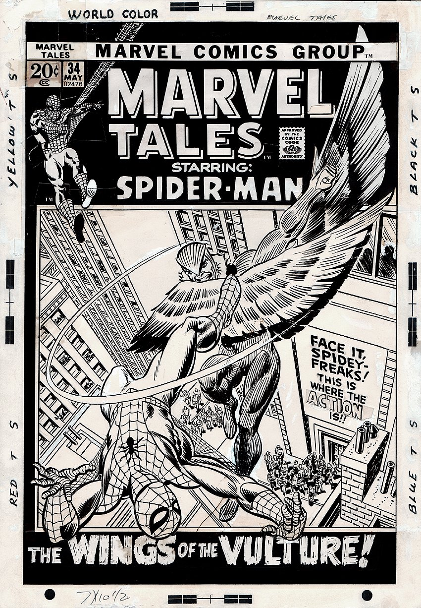 Marvel Tales #34 Cover (3rd Earliest Kane / Romita Spider-Man Cover!) 1971)