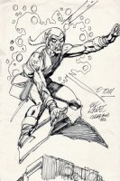Green Goblin Beautiful LARGE Commission Pinup (1983) Comic Art