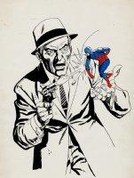 Atom Silver Age Pinup / Un-Used Cover? (1960s) Comic Art