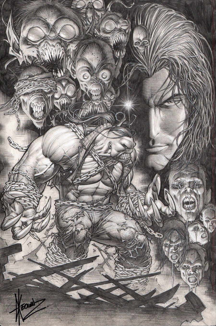 Darkness / Pitt #1 Cover (2009)
