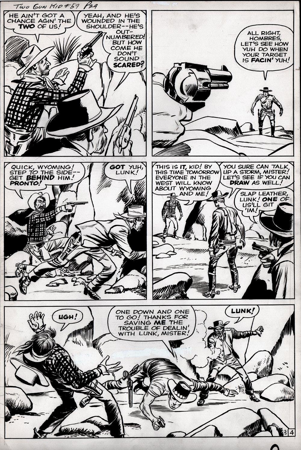 Two Gun Kid #59 p 4 (VERY LAST ISSUE BEFORE 2 GUN KID GETS HIS MASK!) LARGE ART - 1960