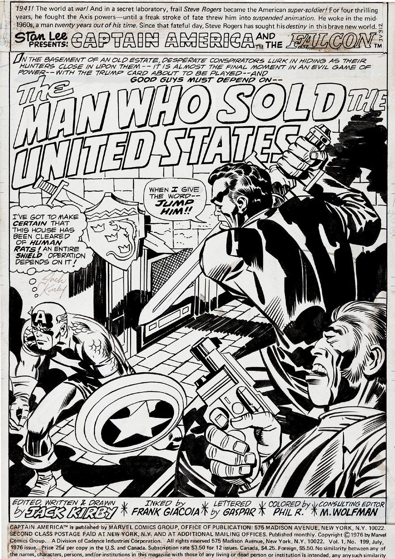 Captain America #199 p 1 SPLASH (1976)