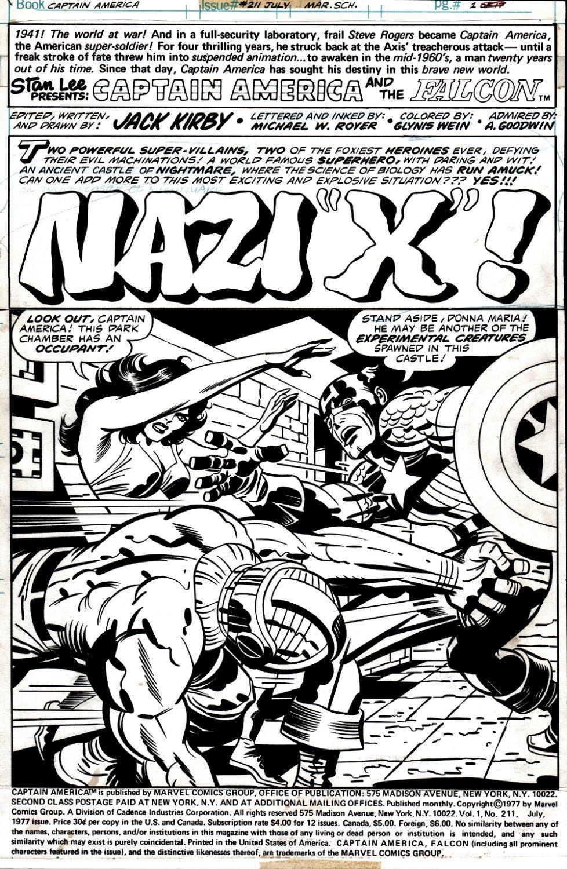 Captain America #211 p 1 SPLASH (1977)