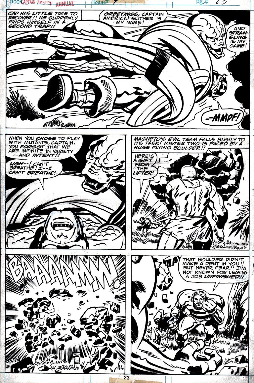 Captain America Annual #4 p 23 (CAP BATTLE PAGE!) 1977)