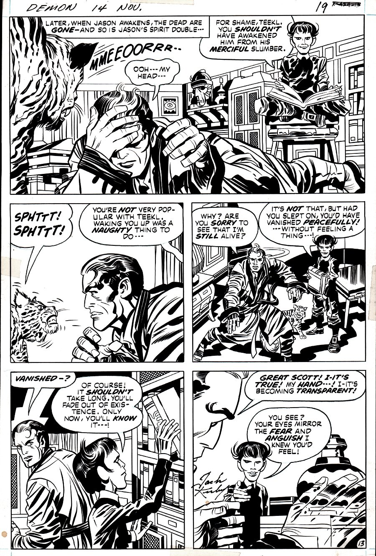 The Demon #14 p 13 (Jason Blood, Klarion the Witchboy, Teekl!)  1973