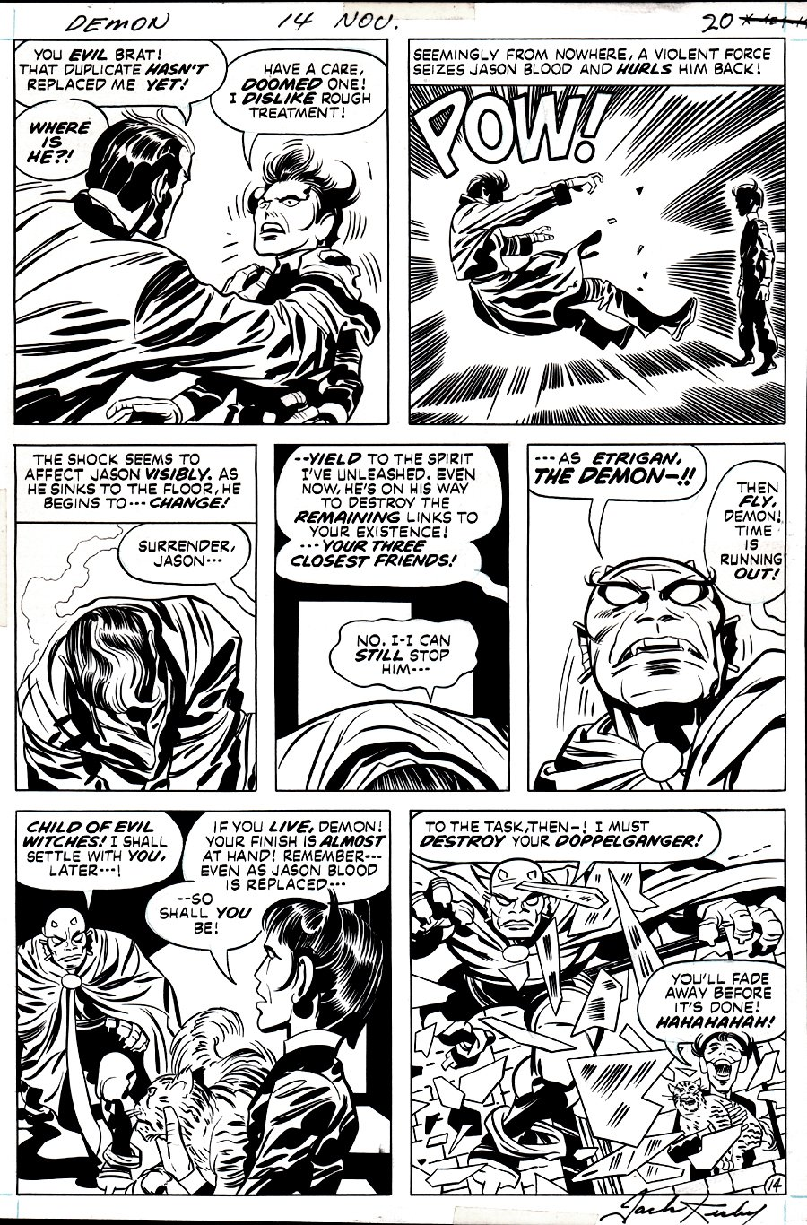 The Demon #14 p 14 (The DEMON Transformation, Klarion the Witchboy, Teekl!)  1973