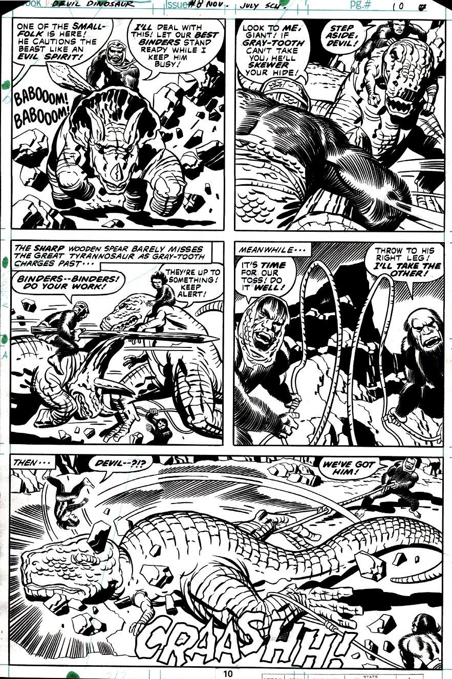 Devil Dinosaur #8 p 10 (Devil Dinosaur & Moonboy Battle Dino-Riders!) 1978