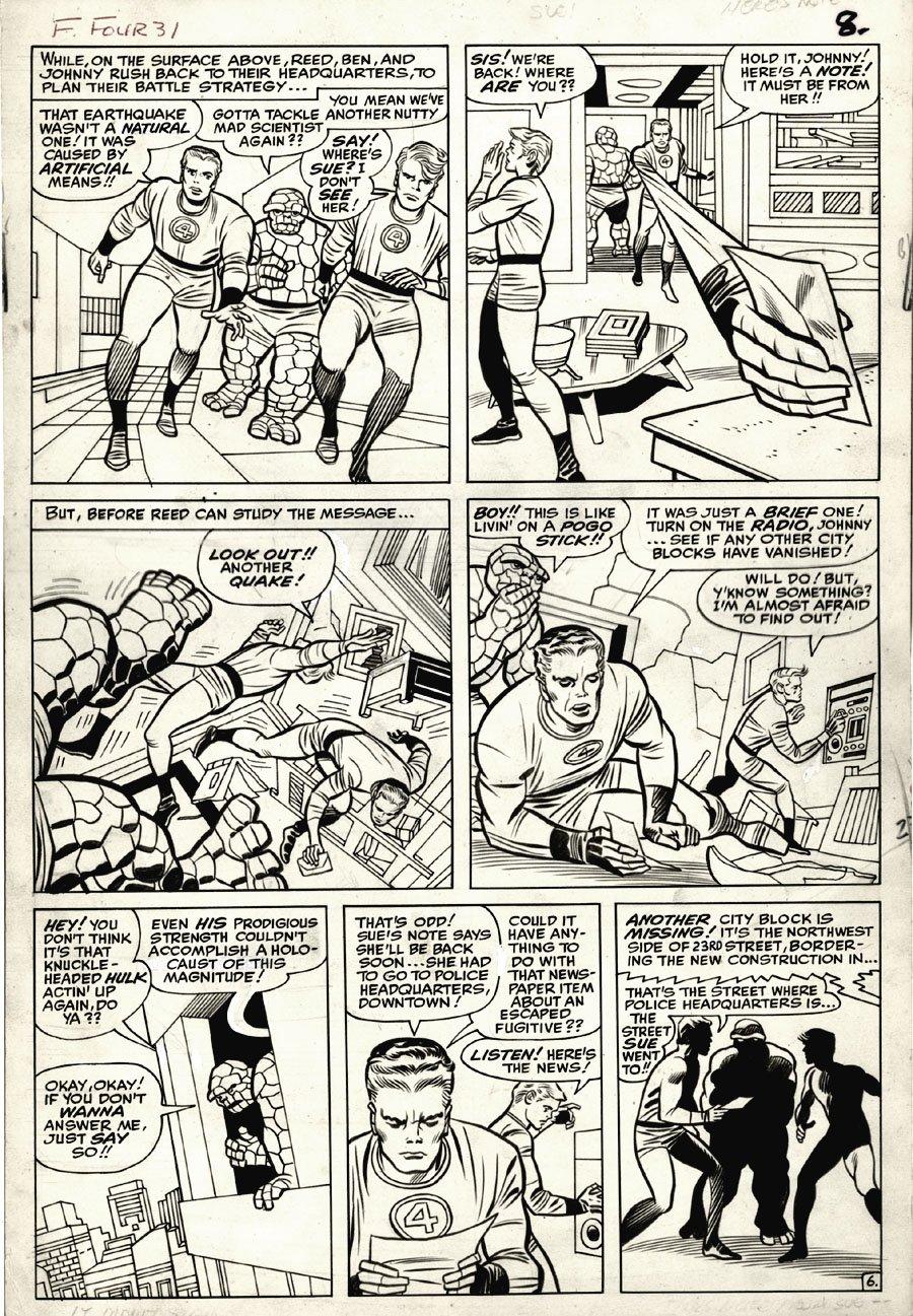 Fantastic Four #31 p 6 (Large Art) 1964