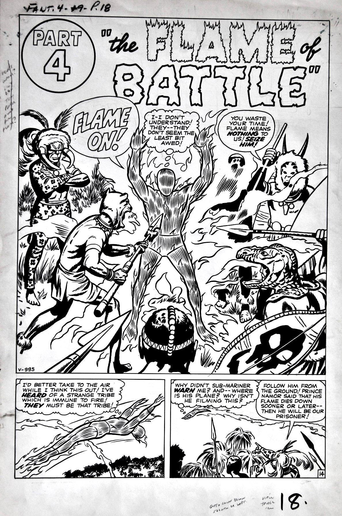 Fantastic Four #9 p 14 SPLASH (LARGE ART) 1962