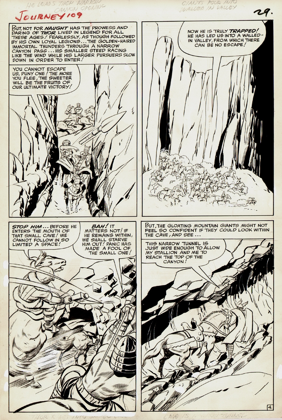 Journey Into Mystery #109 p 4 (Large Art) 1964