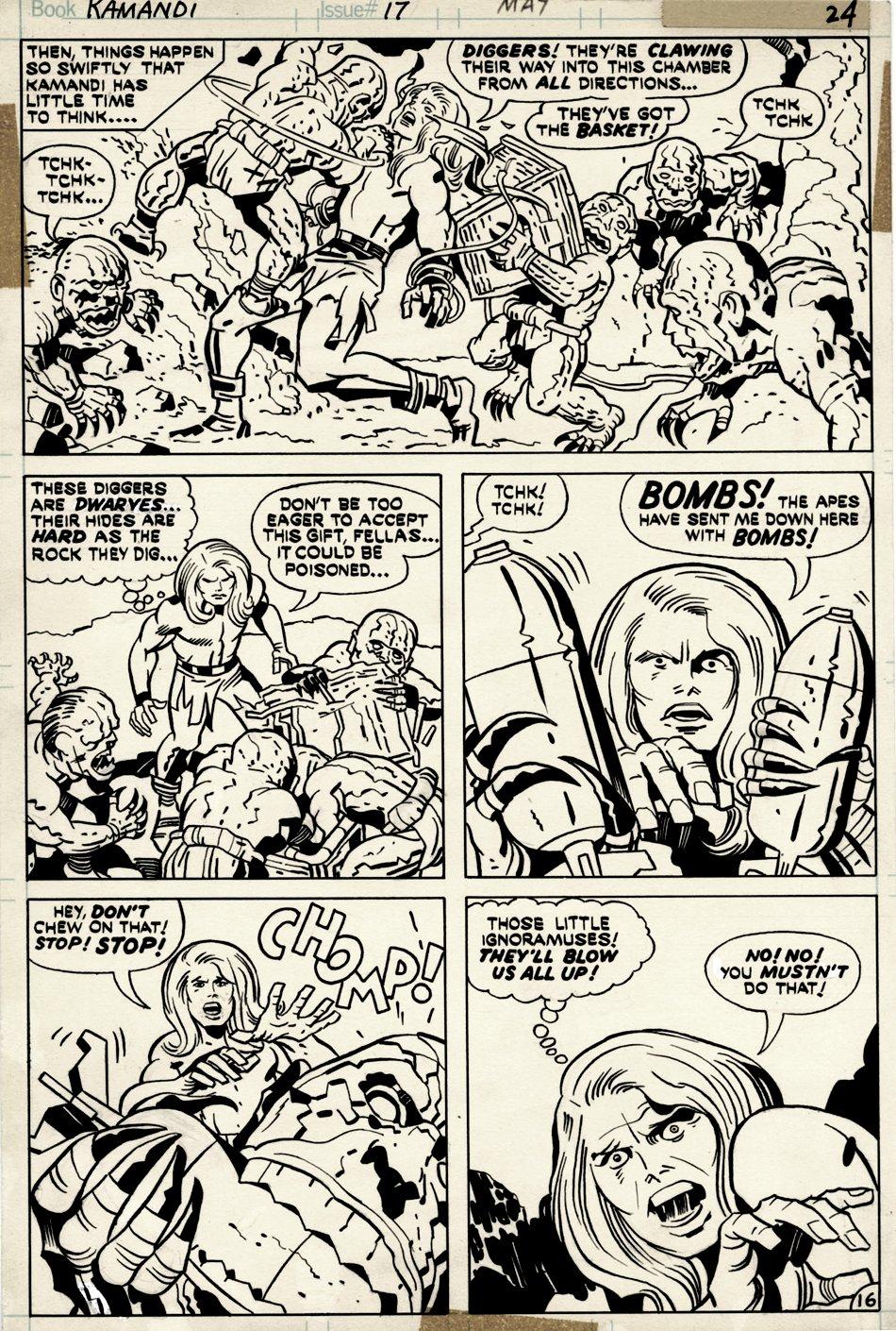 Kamandi #17 p 16 (KAMANDI IN EVERY PANEL!) 1974