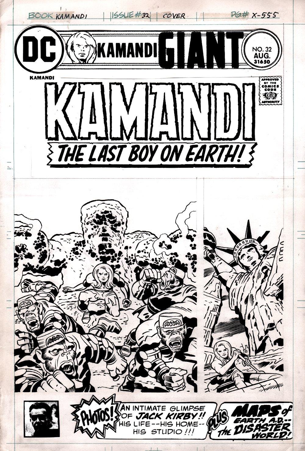 Kamandi #32 Cover (KAMANDI #1 COVER HOMAGE!) 1975