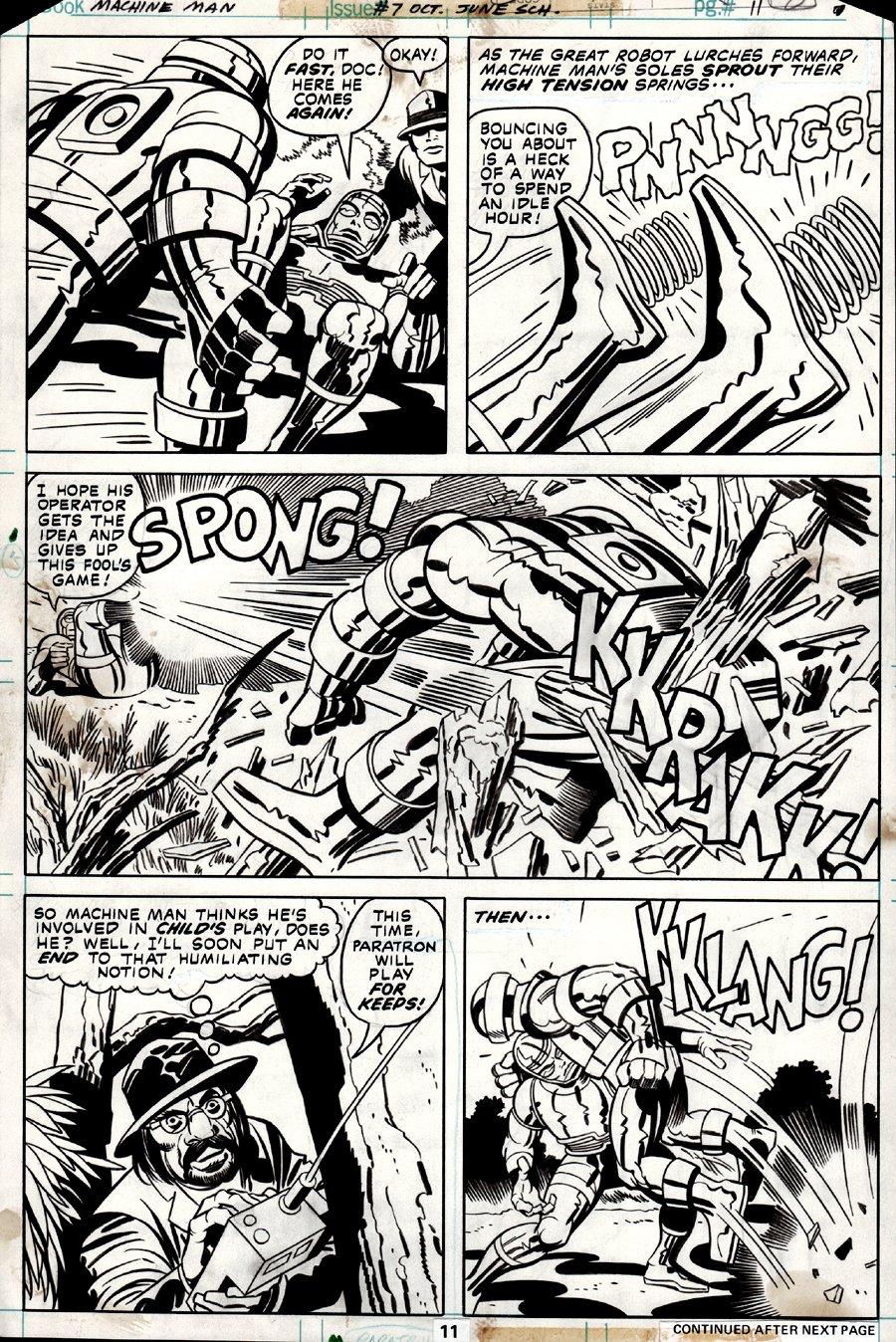Machine Man #7 p 11 (1978)