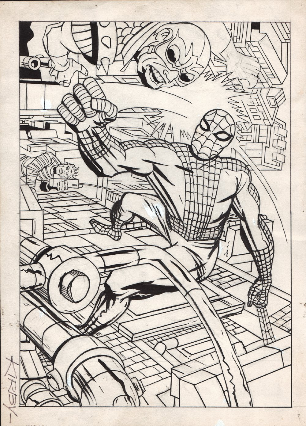Marvelmania #5 Cover (ONLY KNOWN JACK KIRBY SILVER AGE SPIDER-MAN COVER!) 1960s