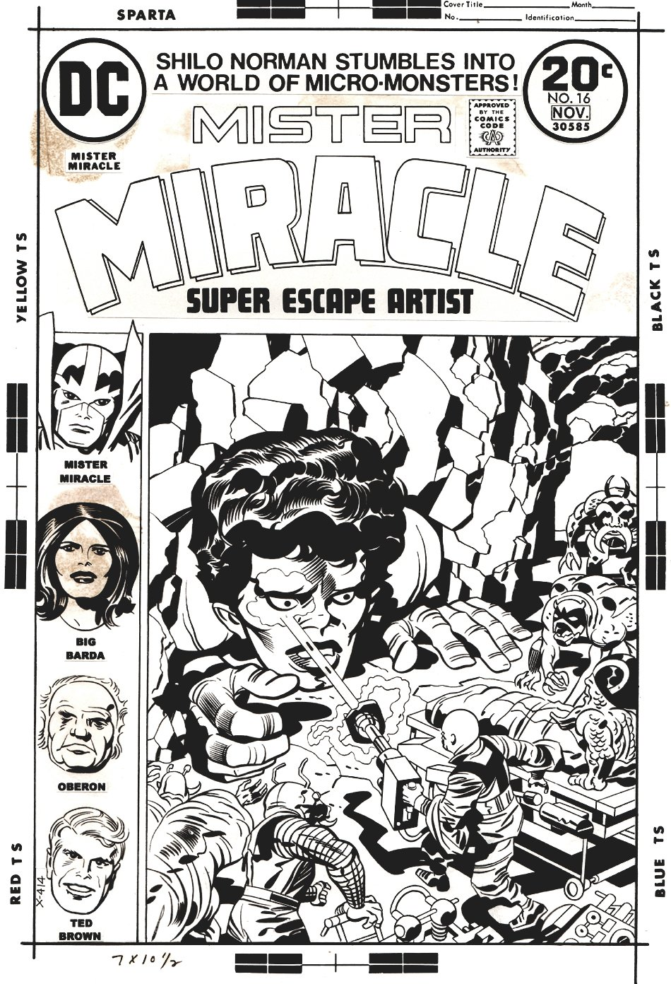 Mister Miracle #16 Cover (1973)