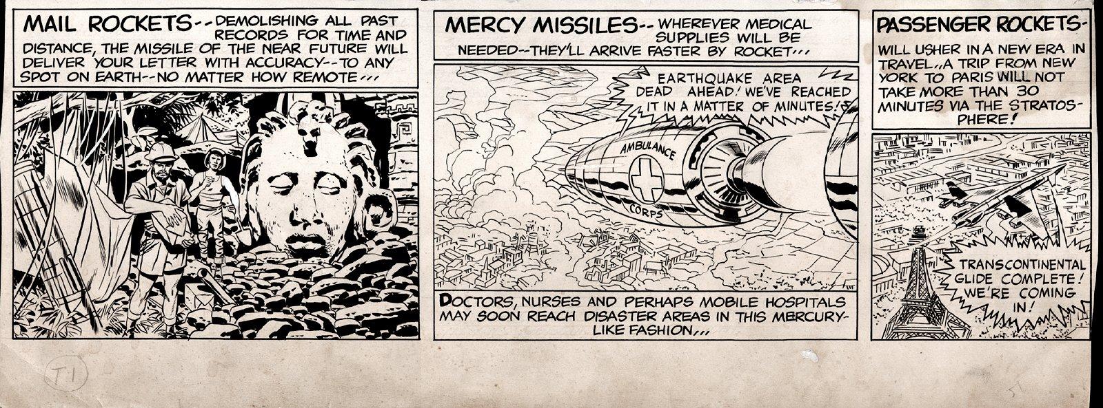 SKY MASTERS Bottom 1/3 Sunday Strip Art 5-24-1959