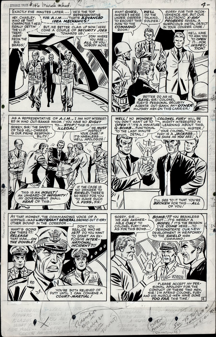 Strange Tales #146 p 4 (Large Art) 1966