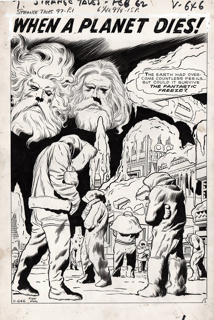 Strange Tales #97 p 1 SPLASH (Large Art) 1962