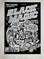 Black Magic #3 'Golden Age' Cover (Large Art) 1950 Page k Comic Art