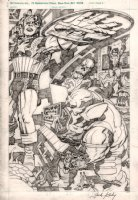 Jack Kirby Collector #3 Back Cover (Captain America, Bucky, Red Skull Wearing Donald Trump Shirt Also!) 1970s Comic Art