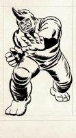 Jack Kirby Marvelmania Unpublished Rhino Back Cover Illustration (1968) Comic Art