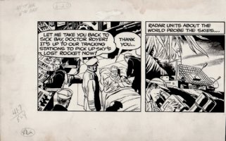 Skymasters Original Partial Daily Strip (6-20-1959) Comic Art