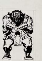 Jack Kirby Marvelmania Unpublished Ulik Back Cover Illustration (1968) Comic Art