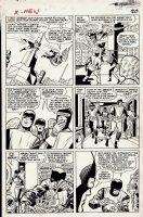 X-Men #8 p 15 (Large Art) 1964 Comic Art