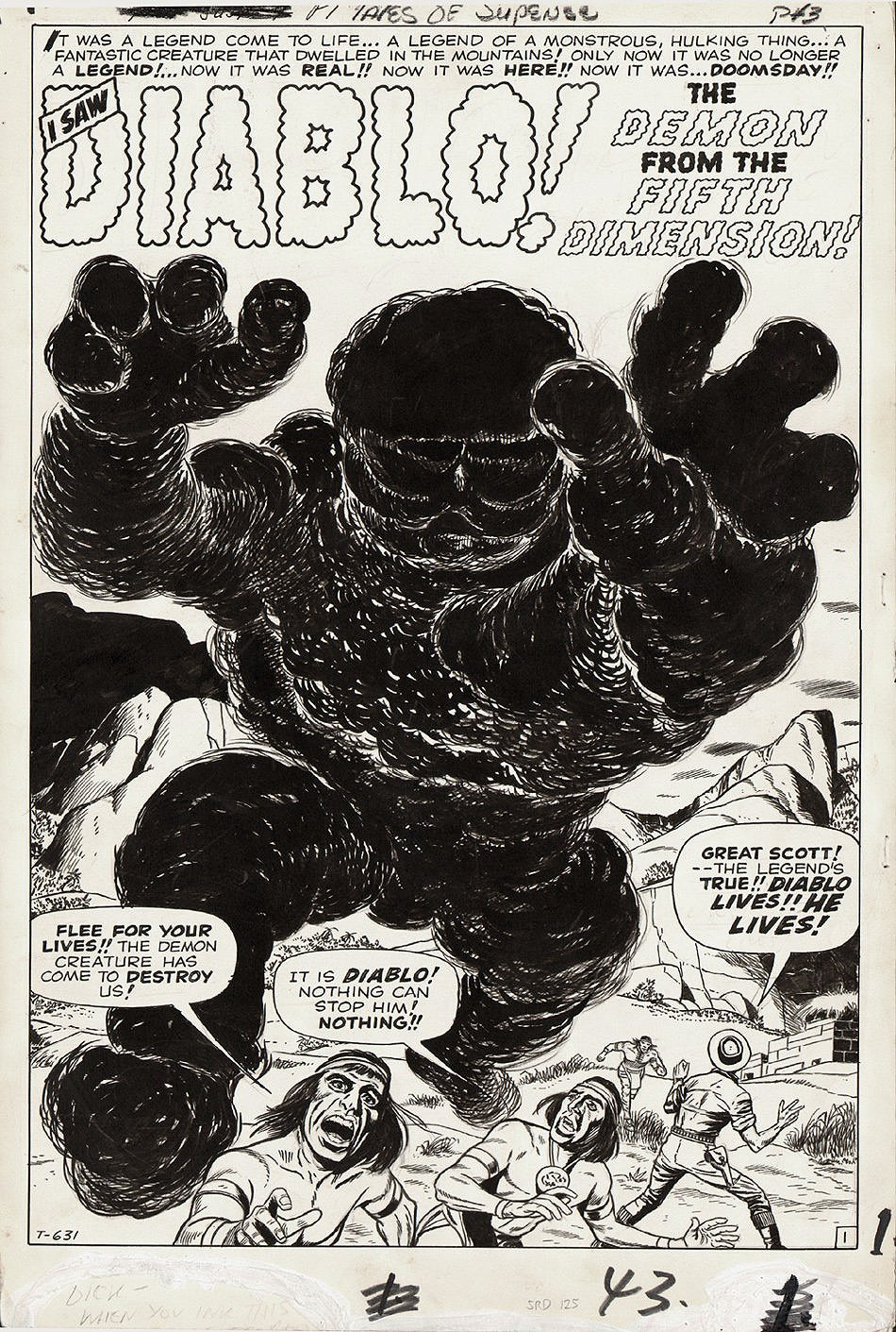 Tales of Suspense #9 p 1 SPLASH (Large Art) 1960