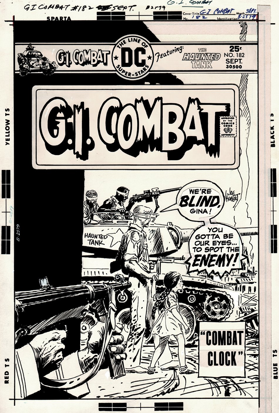 G.I. Combat #182 Cover (THE HAUNTED TANK!) 1975