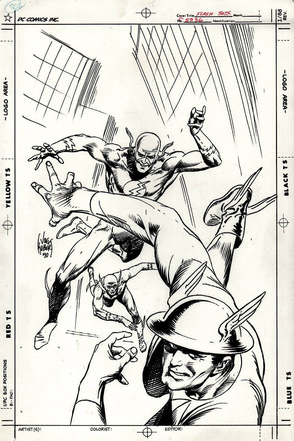 Flash Special #1 Cover (Golden, Silver, Bronze Age FLASH Heroes) 1990