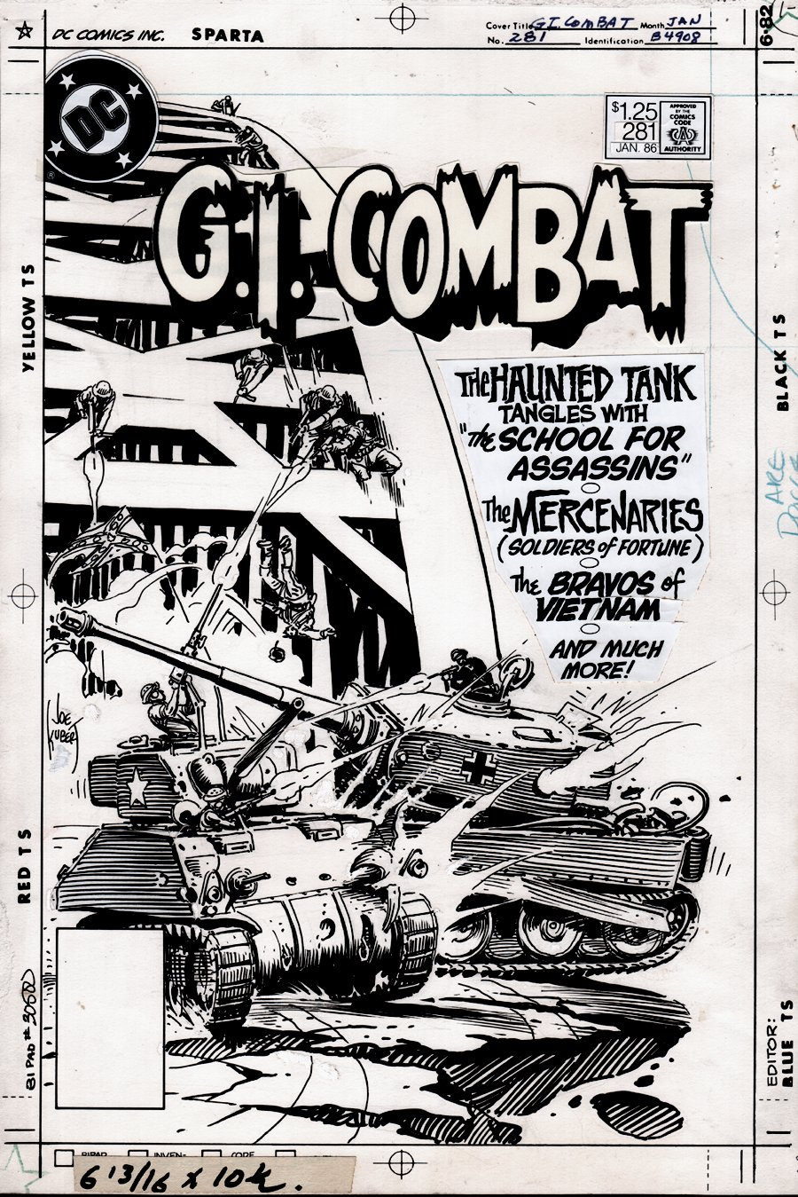 G.I. Combat #281 Cover (HAUNTED TANK!)