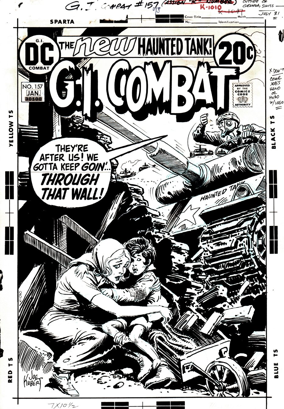 G.I. Combat #157 Cover (HAUNTED TANK!) 1972