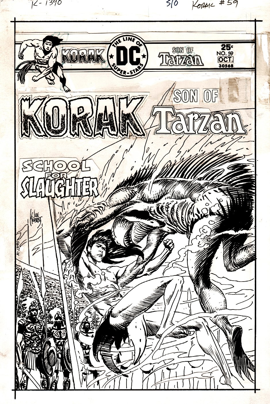 Korak, Son of Tarzan #59 Cover (1975)