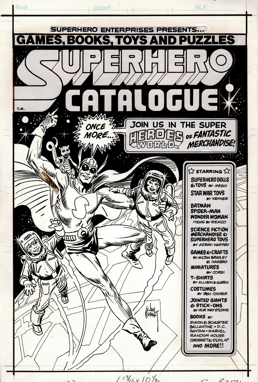 Superhero Catalogue #3b Cover Art (VERY FIRST MENTION OF STAR WARS TOYS) 1976