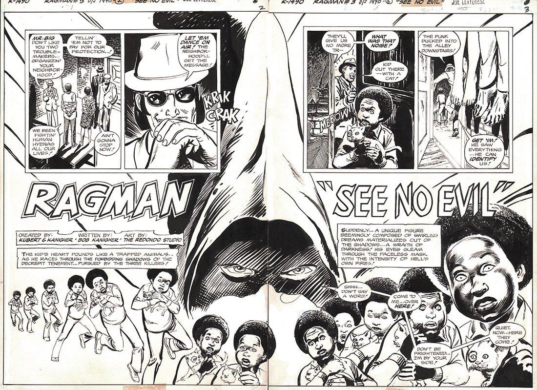 Ragman #3 p 2-3 Double Spread Splash (1976)