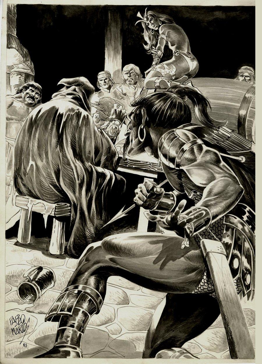 Savage Sword of Conan #88 p 62 SPLASH (1983)