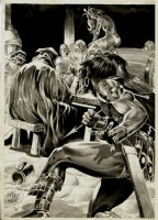 Savage Sword of Conan #88 p 62 SPLASH (1983) Comic Art