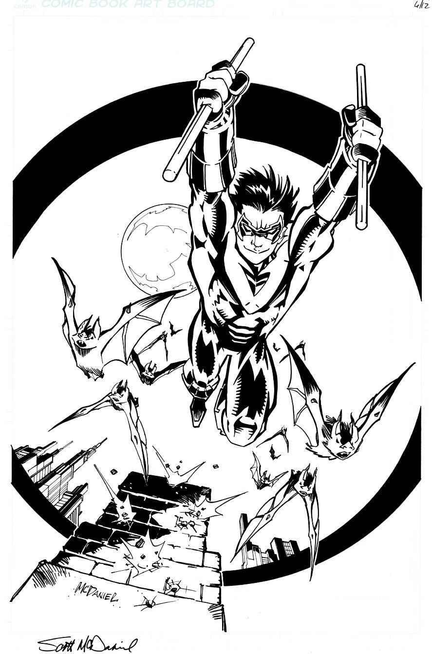 Robin and Bats Pinup