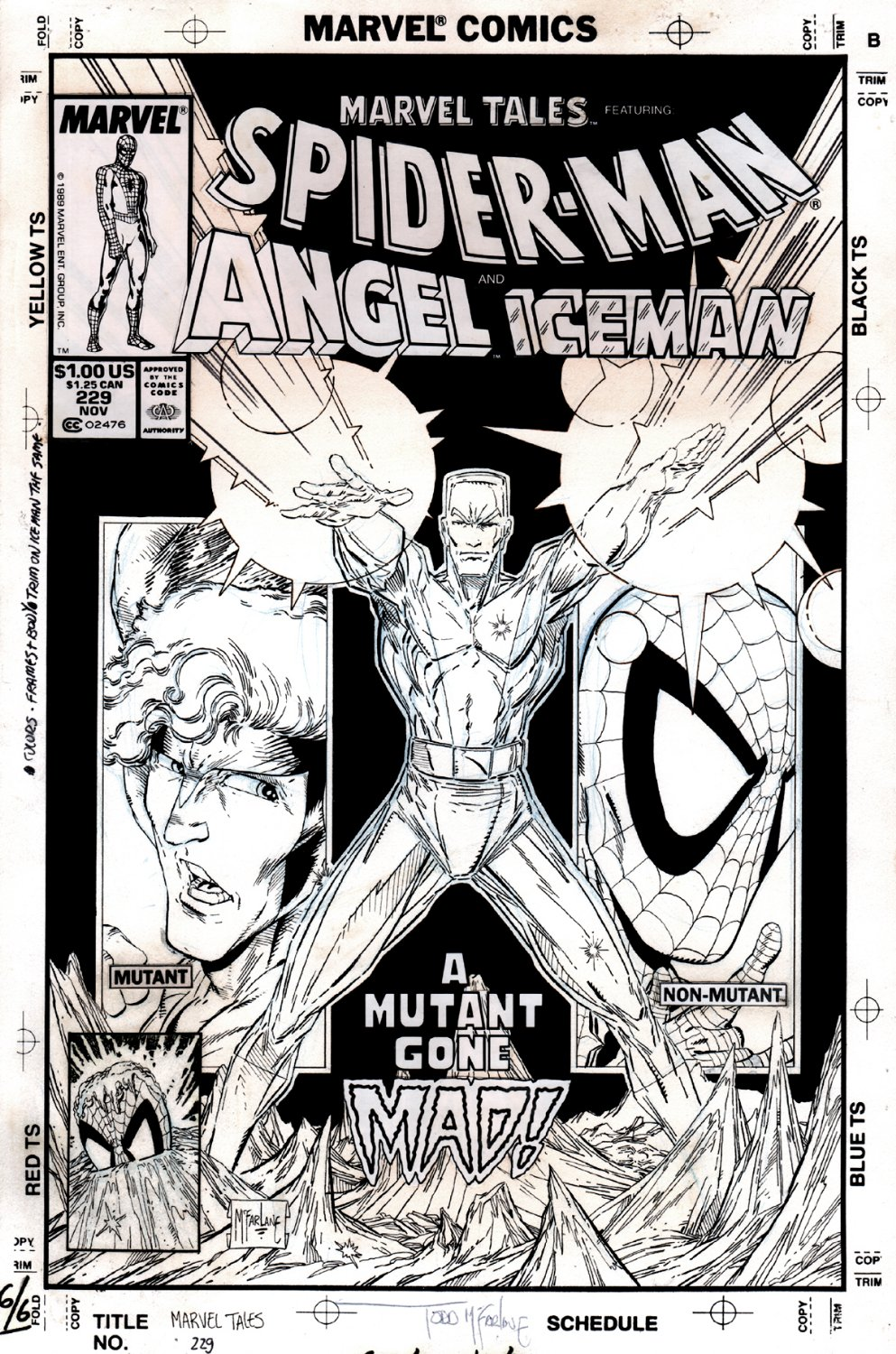 Marvel Tales #229 Cover (Spider-Man Drawn Twice, Angel, Iceman!) 1989