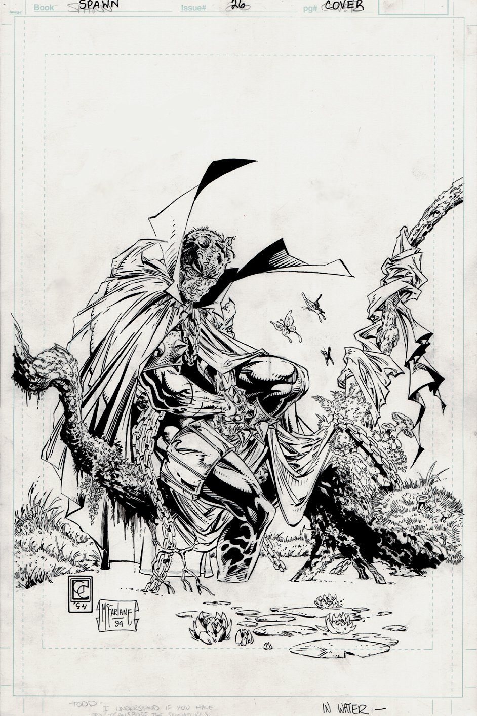 Spawn #26 Cover (EARLIEST McFARLANE SPAWN COVER OFFERED FOR SALE?) 1994)