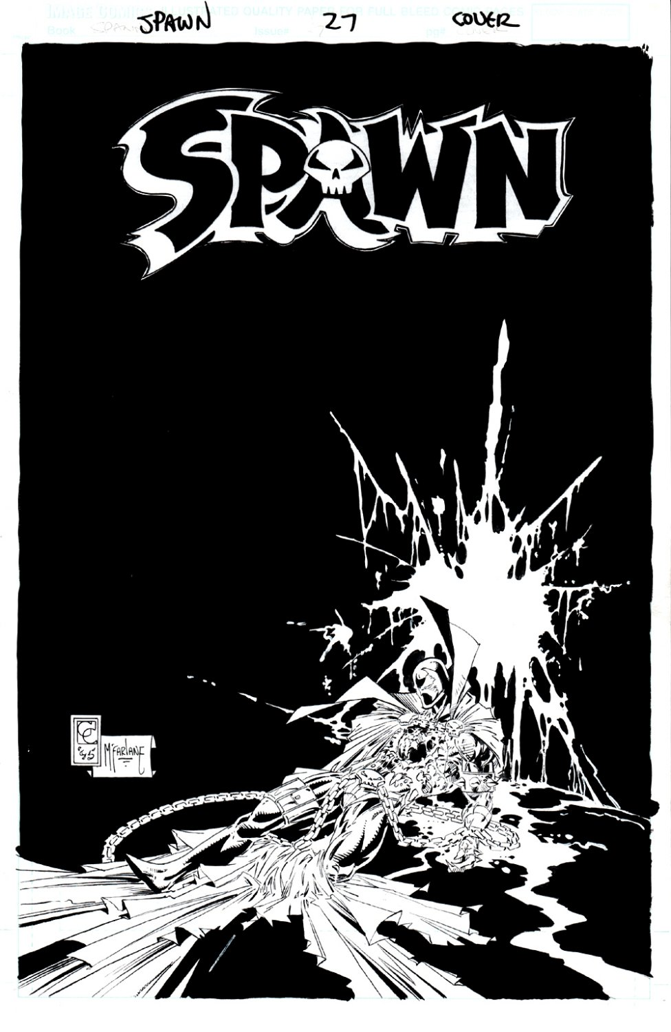 Spawn #27 Cover (FIRST 'CURSE' STORY) 1995