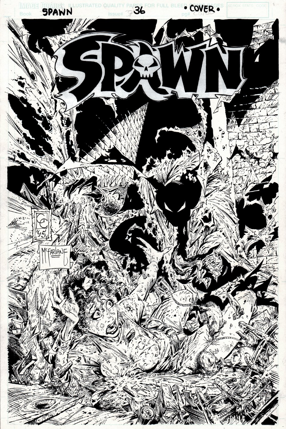 Spawn #36 Cover 1995