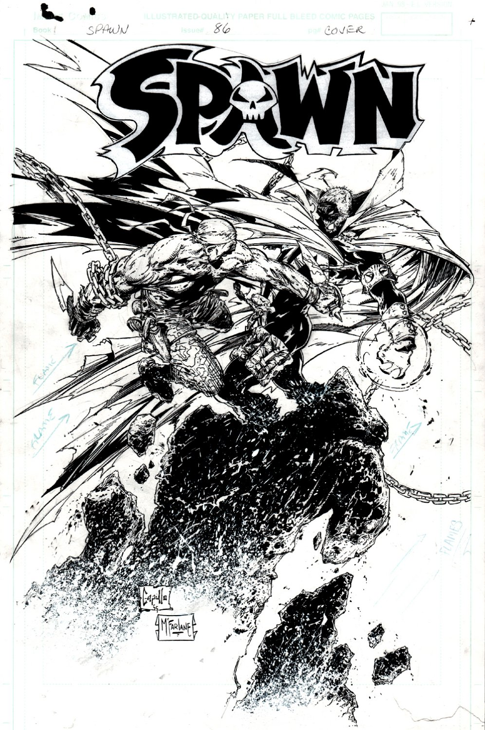 Spawn #86 Cover (TODD McFARLANE INKS!) 1999
