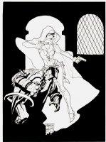 Ghost / Hellboy 1995 Promo Illustration (Used For 1996 Mini-Series) Comic Art